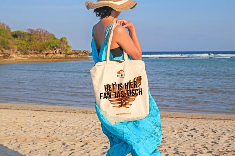 canvas tas brasserie vrouw